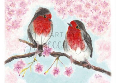 Two Robins, One Spring Day