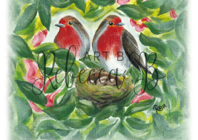 Two Robins, Four Blessings (WM)